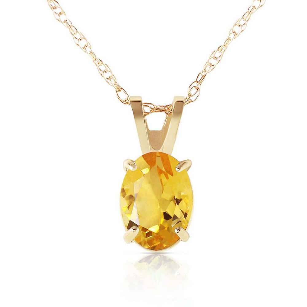 0.85 Carat 14K Solid Gold Edge Of Reason Citrine Necklace