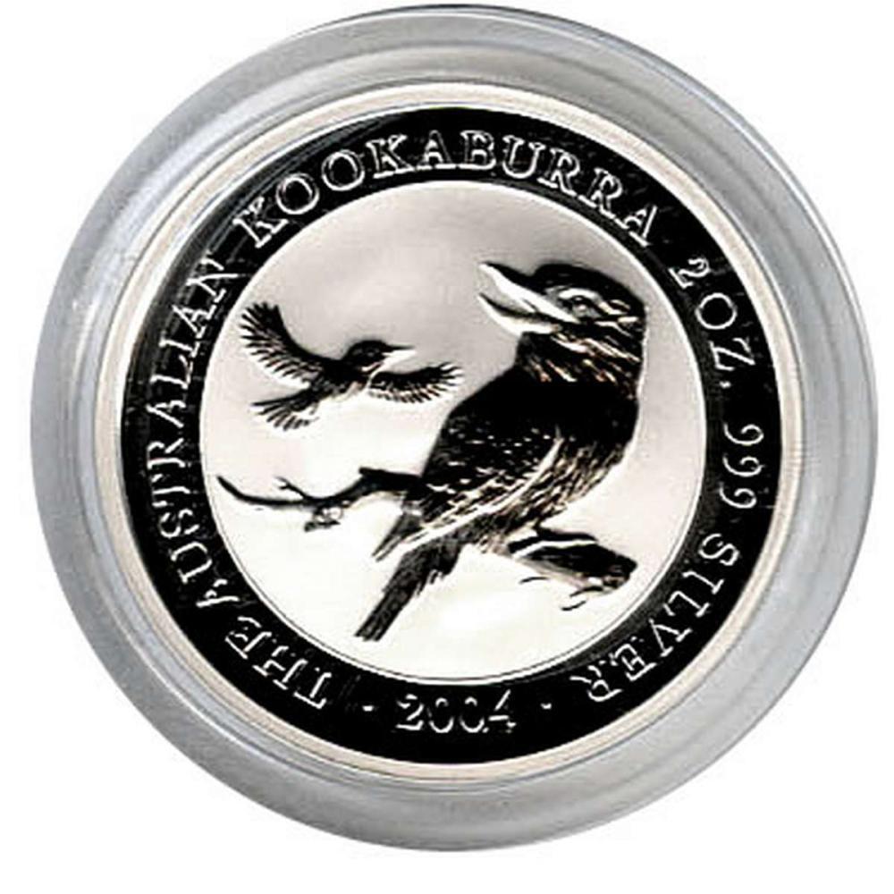 Australian Kookaburra 2 oz. Silver 2004