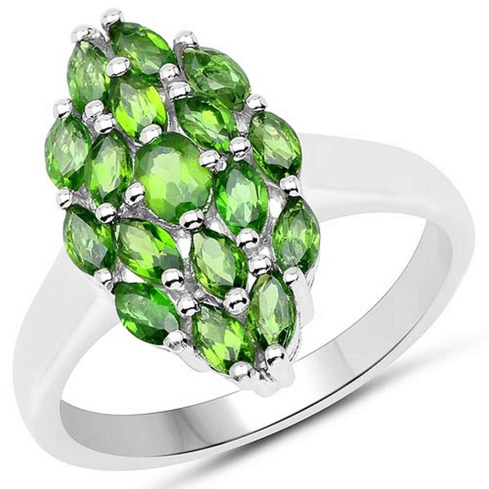 1.31 CTW Genuine Chrome Diopside .925 Sterling Silver Ring