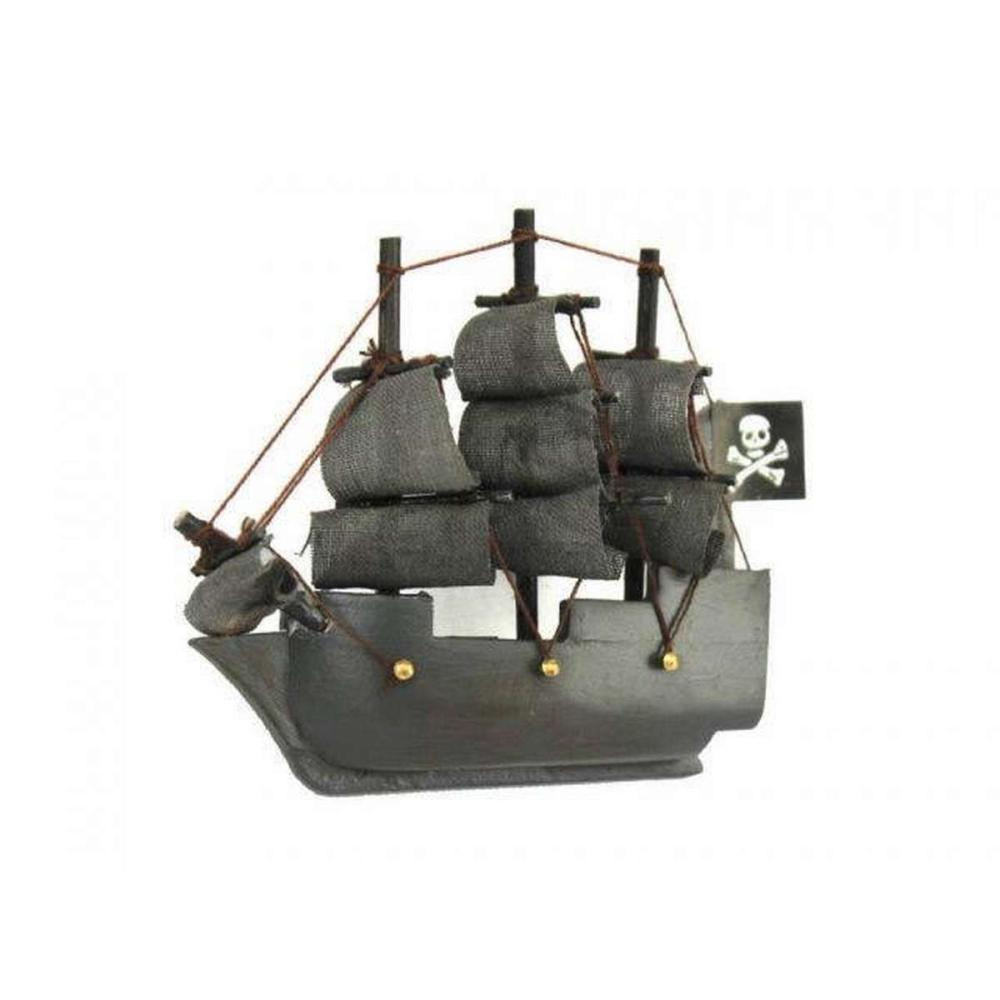 Wooden Flying Dutchman Model Pirate Ship Magnet 4in.