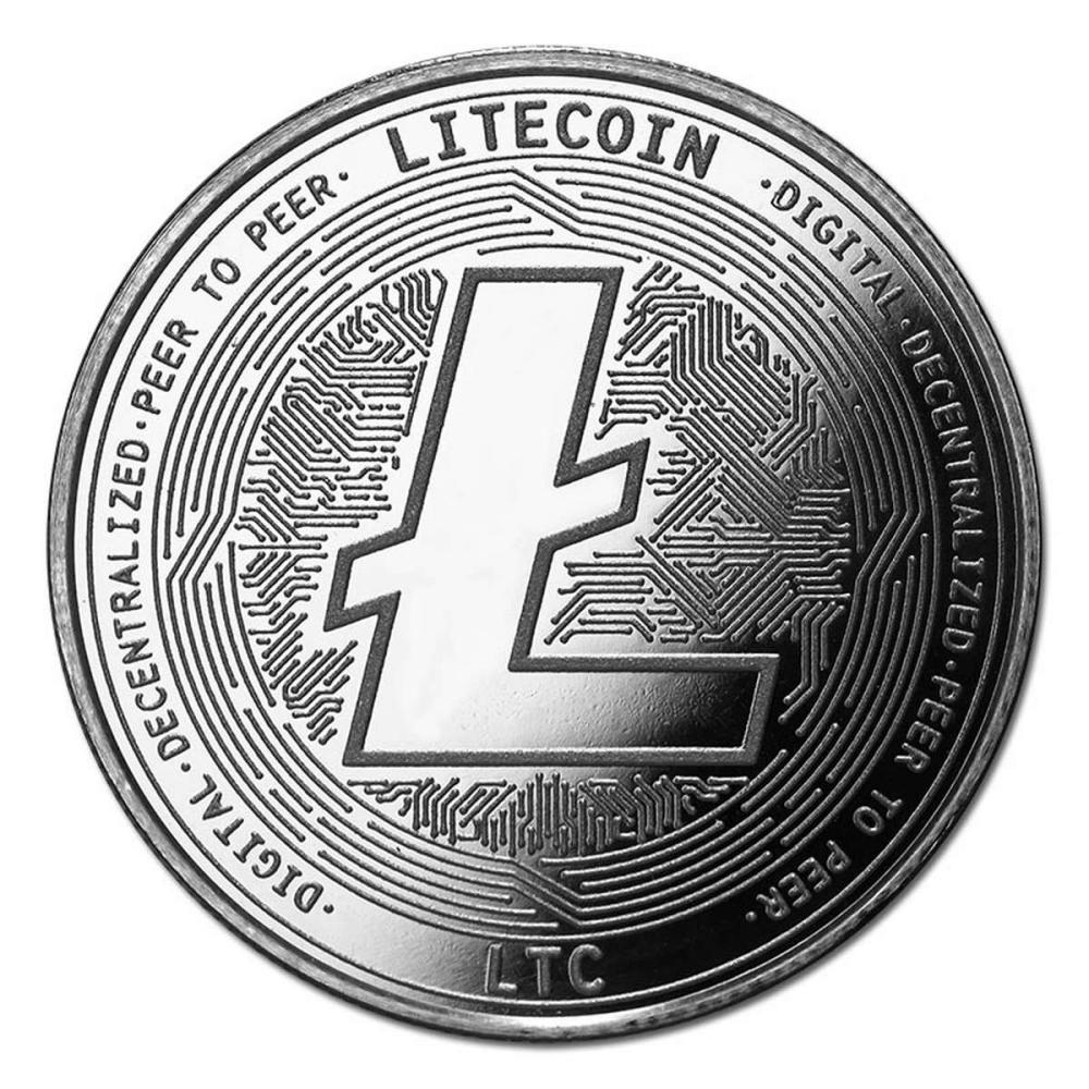 1 oz Silver Bullion Cryptocurrency Litecoin Round .999 fine