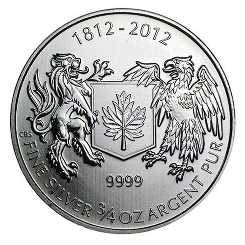 2012 Canada 3/4 oz Silver $1 War of 1812
