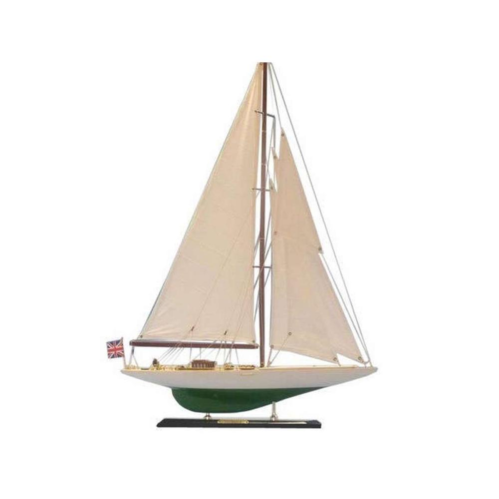 Wooden Shamrock Limited Model Sailboat 27in.