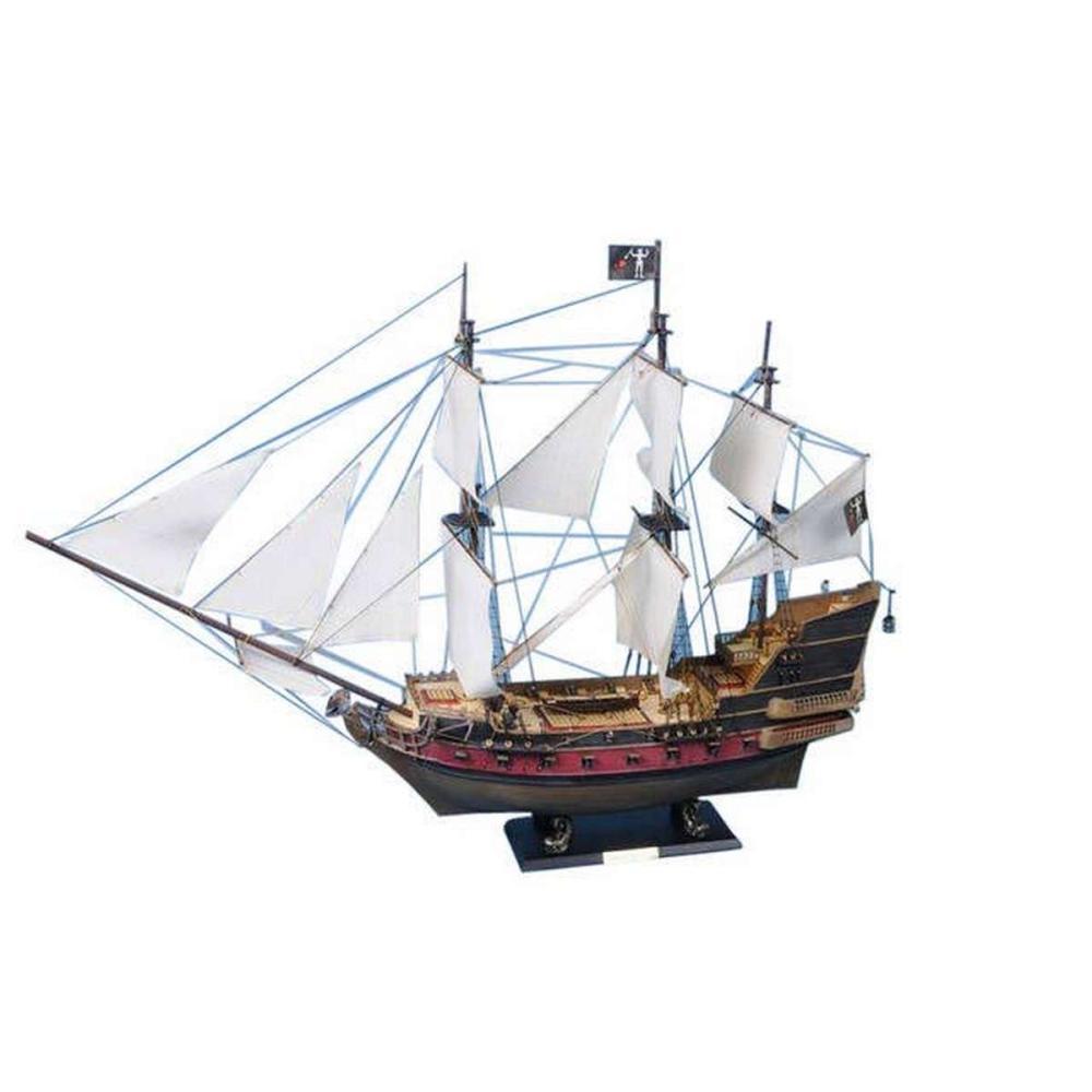 Blackbeards Queen Annes Revenge Model Pirate Ship 36in. - White Sails