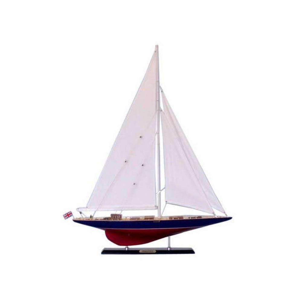 Wooden Endeavour Limited Model Sailboat Decoration 35in.