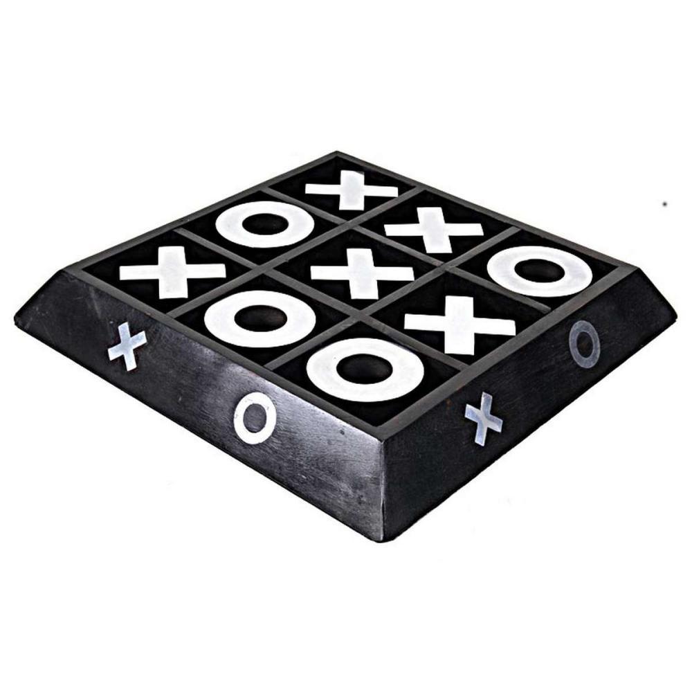 WOODEN/ ALUMINIUM X-O GAME BLK/NKL