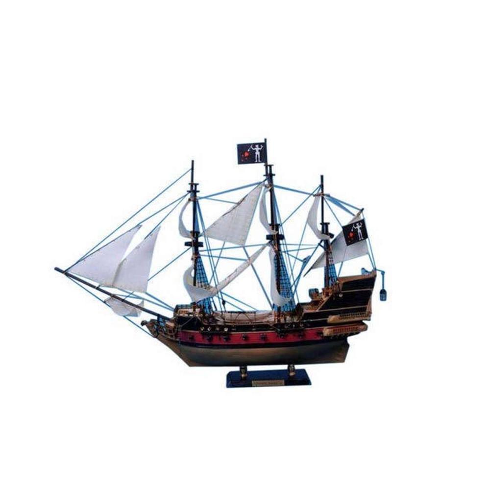 Blackbeards Queen Annes Revenge Model Pirate Ship 24in. - White Sails