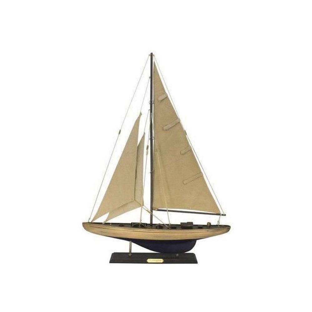 Wooden Rustic Enterprise Limited Model Sailboat Decoration 27in.