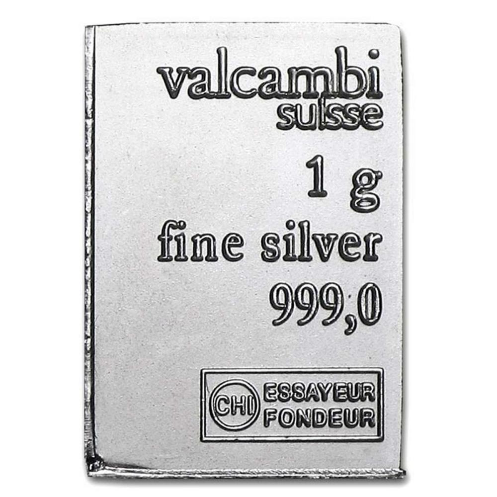 1 gram Silver Bar or Round - Assorted Designs