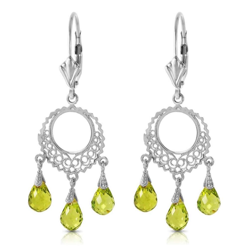 3.75 Carat 14K Solid White Gold Not Single Anymore Peridot Earrings
