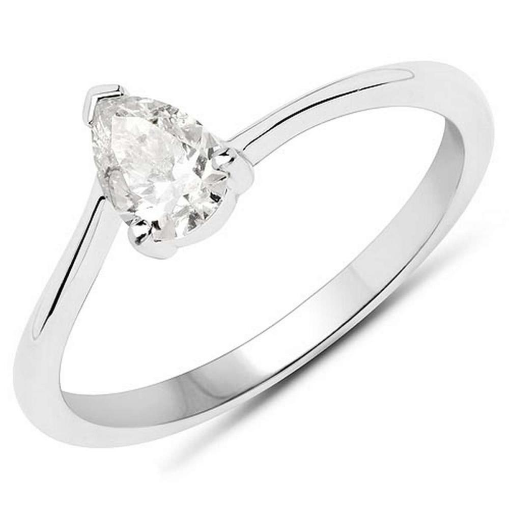 14K White Gold 0.50 Carat Genuine White Diamond Ring