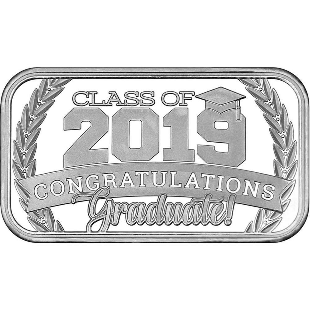 Congratulations Class Of 2019 .999 Silver 1 oz Bar
