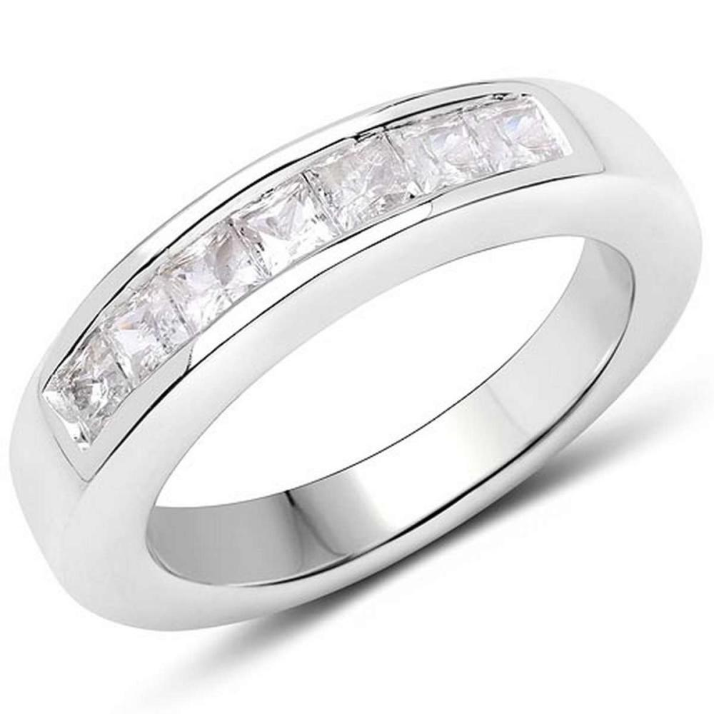 1.05 Carat Genuine White Sapphire .925 Sterling Silver Ring