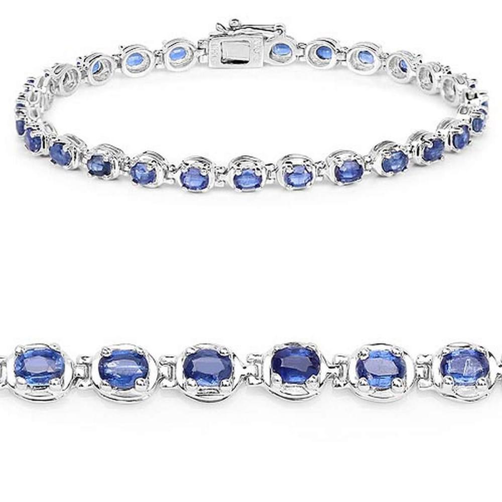 7.02 CTW Genuine Kyanite .925 Sterling Silver Bracelet