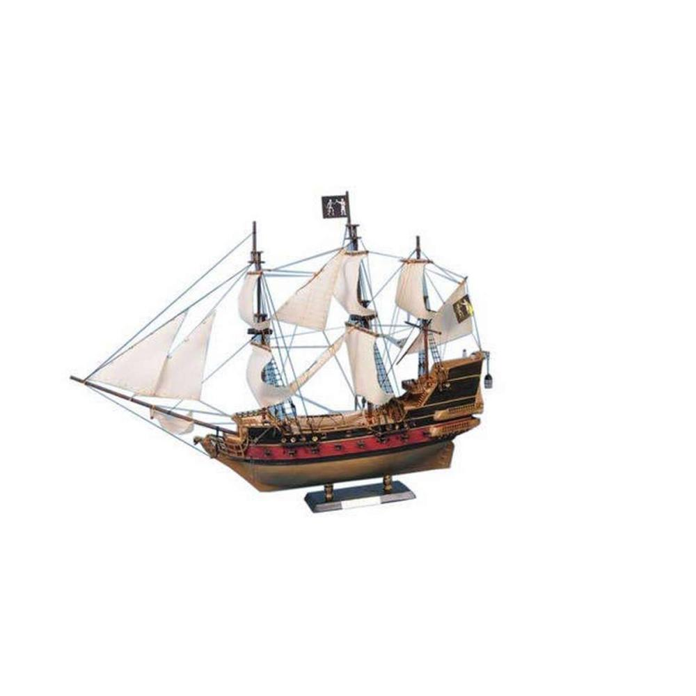 Black Barts Royal Fortune Model Pirate Ship 36in. - White Sails