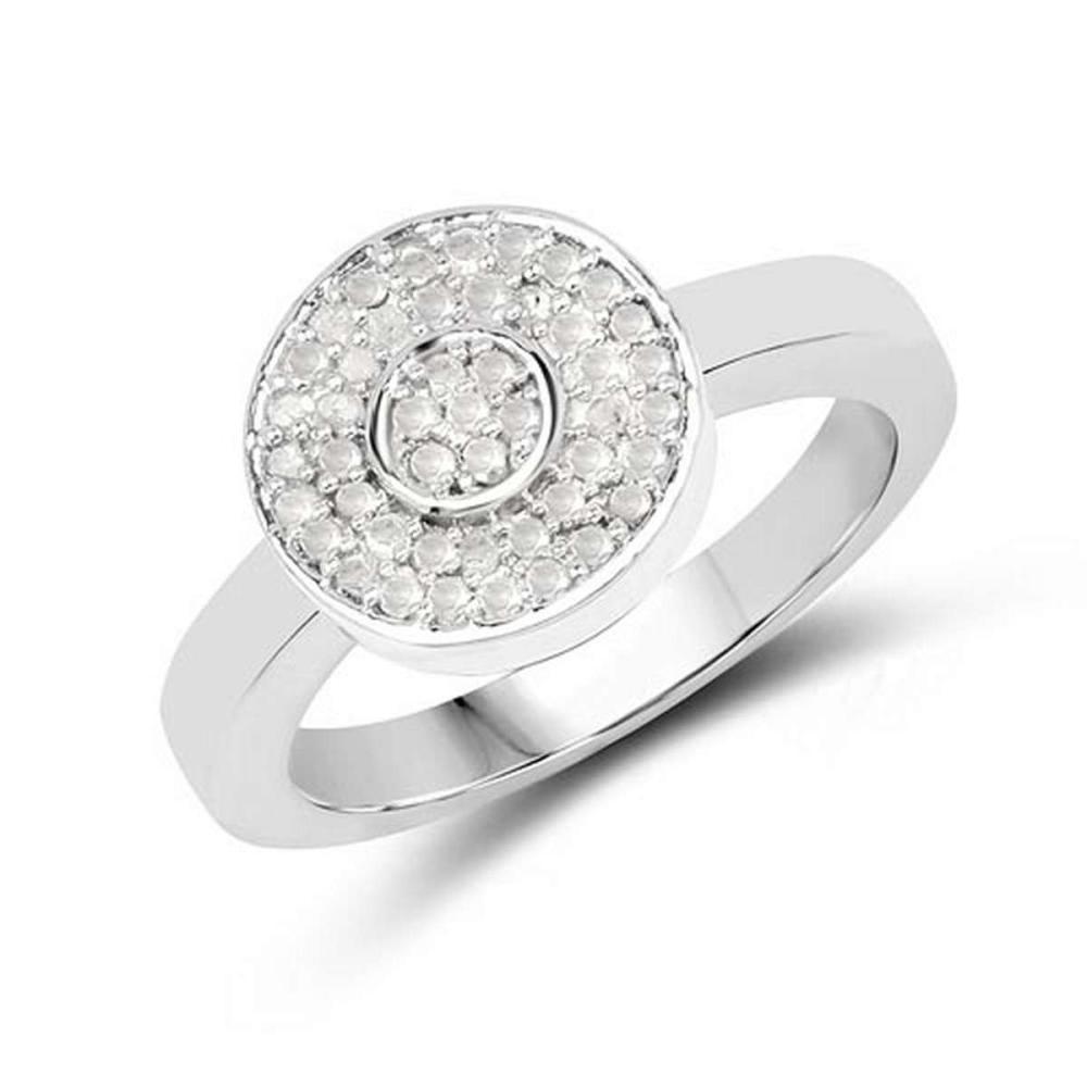 0.20 Carat Genuine White Diamond .925 Sterling Silver Ring