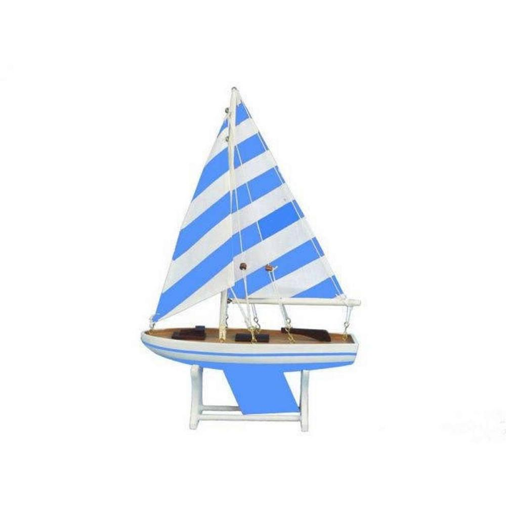 Wooden It Floats Blue Prince Model Sailboat 12in.