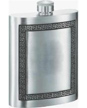 Visol Kalos Greek Design Pewter Hip Flask - 8 oz