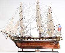 HAND MADE WOODEN USS Constellation XL W/COA