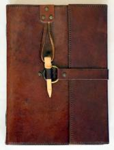 LEATHER JOURNAL W/PENCIL