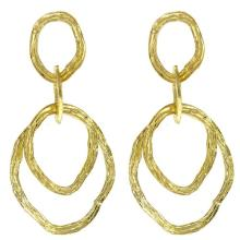14KT Yellow 3-Circle Earrings