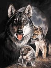 WOLF METAL SIGN