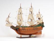 HAND MADE WOODEN Batavia Ship W/COA
