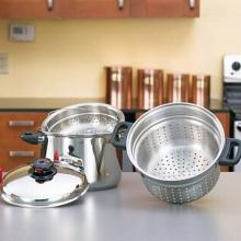 Steam Control 8qt T304 Stainless Steel Stockpot/Spaghetti Cooker