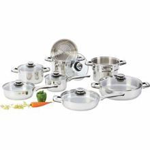 Chef's Secret 14pc Heavy-Gauge Stainless Steel Cookware Set