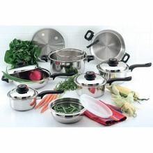 Chef's Secret 15pc 9-Element 304 Stainless Steel Cookware set