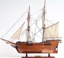 HAND MADE WOODEN Lady Washington Ship W/COA
