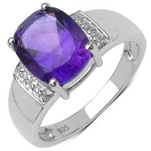 2.60 ct. t.w. Amethyst and White Topaz Ring in Sterling Silver
