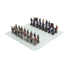 10060 Civil War Chess Set with Glass Board
