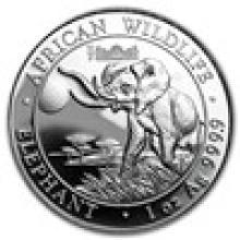 2016 Somalia 1 oz Silver Elephant (Berlin WMF Privy Mark)