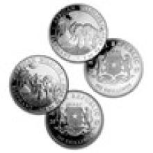 2017 Somalia 2-Coin 1 oz Silver Elephant Set (Rooster Privy & BU)