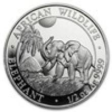 2017 Somalia 1/2 oz Silver Elephant BU