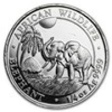 2017 Somalia 1/4 oz Silver Elephant BU