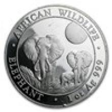 Somalia 1 oz Silver Elephant (Random dates, Scruffy)