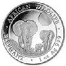 2014 Somalia 1 oz Silver Elephant BU
