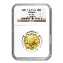 2008-W 1/2 oz Gold Buffalo MS-69 NGC