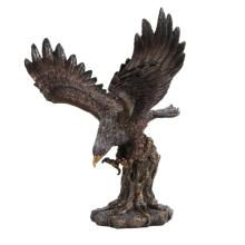 Hand Painted Wings of Glory Eagle Bronze Statue