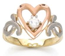 14k Gold Tri Color Ring (Rose Yellow & White Gold)