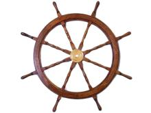 NAUTICAL DELUXE CLASS HAMPTON WOOD AND SOLID BRASS 48