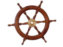 NAUTICAL DELUXE CLASS HAMPTON WOOD AND SOLID BRASS 24