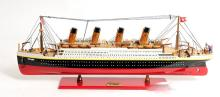 HAND MADE WOODEN Titanic Painted Large W/COA
