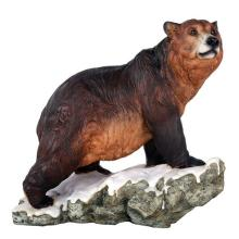 HAND PAINTED COLD CAST RESIN GRIZZLY BEAR 11