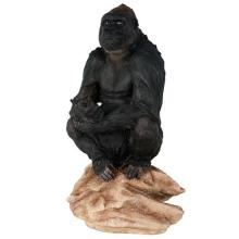 HAND PAINTED COLD CAST RESIN GORILLA 7 1/2