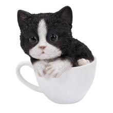 HAND PAINTED COLD CAST RESIN TEACUP KITTEN 5