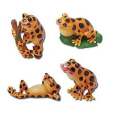 HAND PAINTED RESIN FOGGY SET OF 4 H: 3