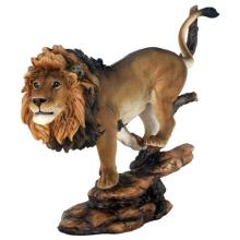 HAND PAINTED COLD CAST RESIN LION 11